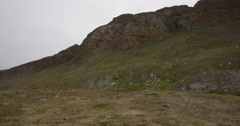 Dolly - Summer Arctic Mountain Landscape  Stock Footage