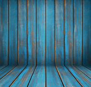 Stock Photo of Blue washed wood texture. background old panels