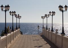 walkway to the sea - stock photo