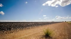 Karoo landscape with dirt road Stock Footage