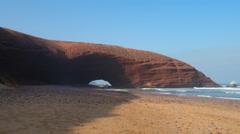Legzira beach. Arcs Stock Footage