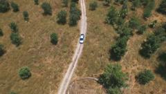Satellite Vehicle Tracking or aerial surveillance of the car. - stock footage