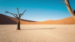 Namibian desert landscape - stock footage