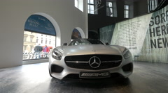 The new Mercedes Benz car shown in Munich Stock Footage