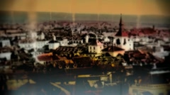 COLORIZED VICTORIAN EUROPE PHOTO ANIMATED Stock Footage