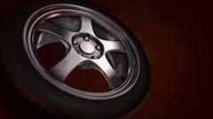 Tire - Wheel Loop Stock Footage
