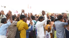 Indian People at Meeting Stock Footage