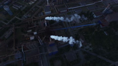 Industrial Plant and Pipe with smoke Stock Footage