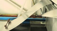 Aluminum steel in a heavy duty machine - stock footage