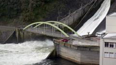 Karapiro Hydroelectric Power Station Stock Footage