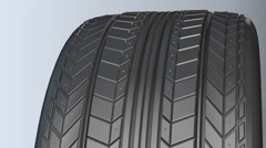Car tire with protector Stock Footage