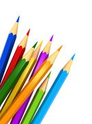 Colour pencils - stock illustration