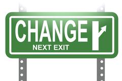 Stock Illustration of Change green sign board isolated