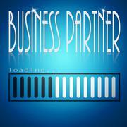 Blue loading bar with business partner word Stock Illustration