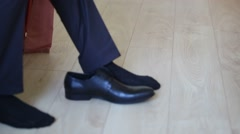 Man clothes shoes Stock Footage