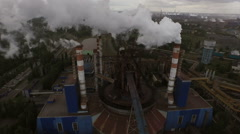 Industrial Plant and Pipe with smoke - stock footage