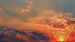 Amazing time-lapse of Colorful Sunset. Stock Footage