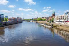 Stock Photo of Bremen Cityscape, Weser