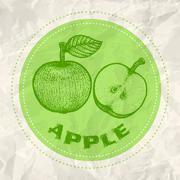 Vintage logo of apple Stock Illustration