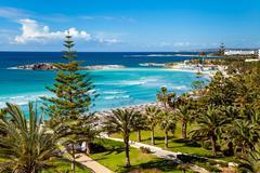 Sea view on Cyprus - stock photo
