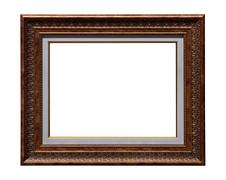 Picture antique frame isolated Stock Photos