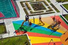 Colorful playground for small kids - stock photo