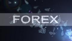 Forex graph. A metaphor of international financial consulting. The concept of su - stock footage