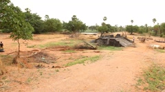 Old Temple at rural area Stock Footage