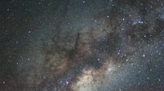 The Milky Way shot from the Southern Hemisphere Stock Footage