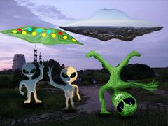 The Happy Visitors -Alien Disco - stock illustration