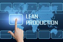 Stock Illustration of Lean Production