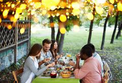 Outdoor feast - stock photo