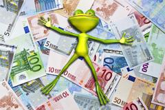 Frog money - stock illustration