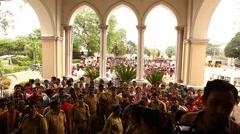 Indian Crowd strike Stock Footage