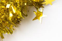 Gold abstract holiday lights background - stock photo