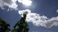 The September sun play with the clouds Stock Footage