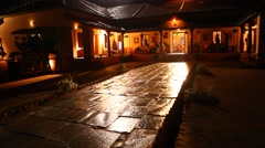 Night effect of Rural house - stock footage
