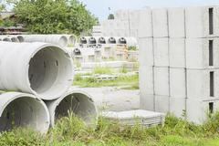 Precast concrete for drains Stock Photos