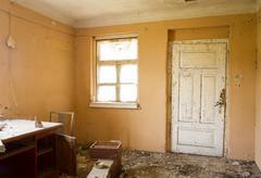Abandoned ruin house Stock Photos