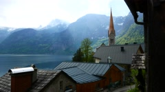 Picturesque panorama of Hallstatt Stock Footage
