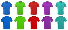 Color t-shirts design - stock photo