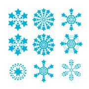 Snowflakes vector set. snow flake icon - stock illustration