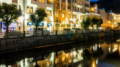 Karlovy Vary (Carlsbad ) Czech Republic Stock Footage
