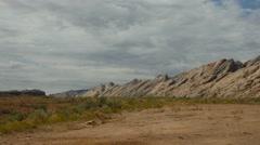 Pan of the San Rafael Mountains in Utah Stock Footage