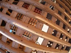 Wooden lattice closeup - stock photo