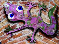 Gecko On The Wall - stock illustration