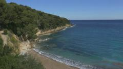Cove in Saint-Jean-Cap-Ferrat. South of France. Stock Footage