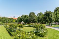 The Volksgarten (People's Garden) Park In Vienna - stock photo