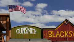 American wild west buildings. Stock Footage