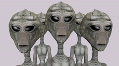 Alien animation aliens looking at the camera Stock Footage
